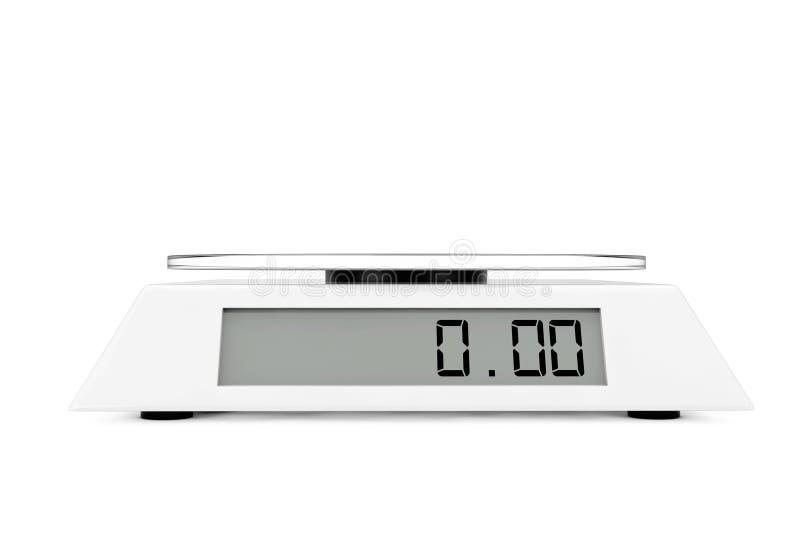 Απλή ψηφιακή κλίμακα κουζινών τρισδιάστατη απόδοση απεικόνιση αποθεμάτων