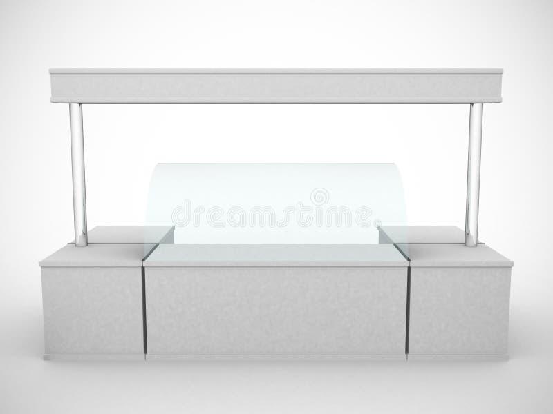 Απλός άσπρος μετρητής προώθησης για το παγωτό απεικόνιση αποθεμάτων