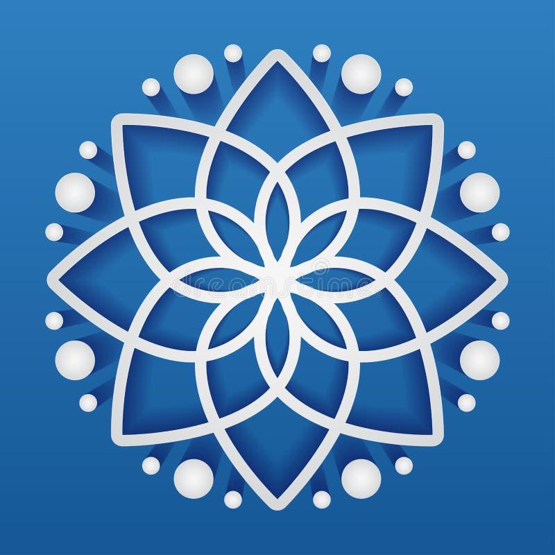 Απλό γεωμετρικό mandala logotype Κυκλικό λογότυπο για τη μπουτίκ, ανθοπωλείο, επιχείρηση, εσωτερική στοκ φωτογραφίες