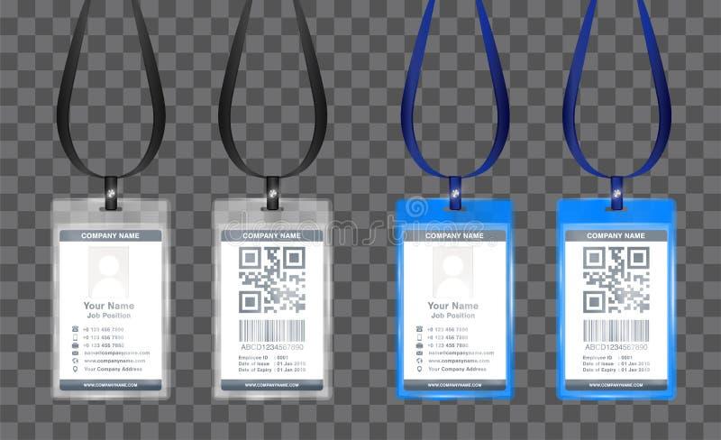Απλό διάνυσμα προτύπων καρτών ταυτότητας υπαλλήλων τοπίων ελεύθερη απεικόνιση δικαιώματος