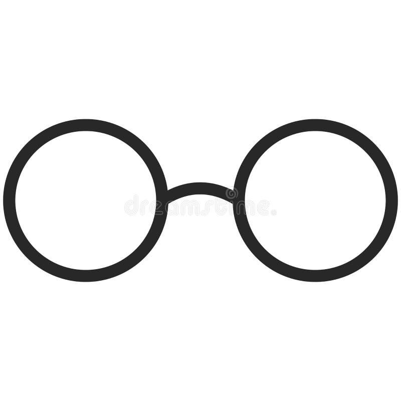 Απλό διανυσματικό εικονίδιο κλασικά γυαλιά στο ύφος τέχνης γραμμών Εικονοκύτταρο τέλειο Στοιχείο βασικής εκπαίδευσης Εργαλείο σχο διανυσματική απεικόνιση
