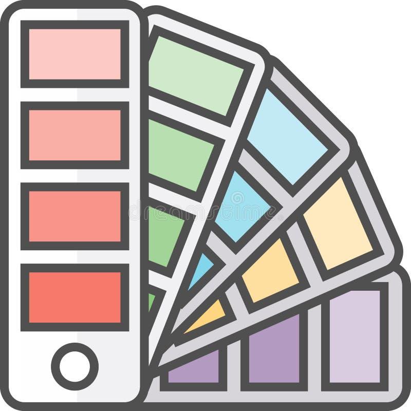 Απλό καλλιτεχνικό και διανυσματικό εικονίδιο Flatχόμπι Pallette χρώματος για την επιλογή των χρωμάτων ελεύθερη απεικόνιση δικαιώματος