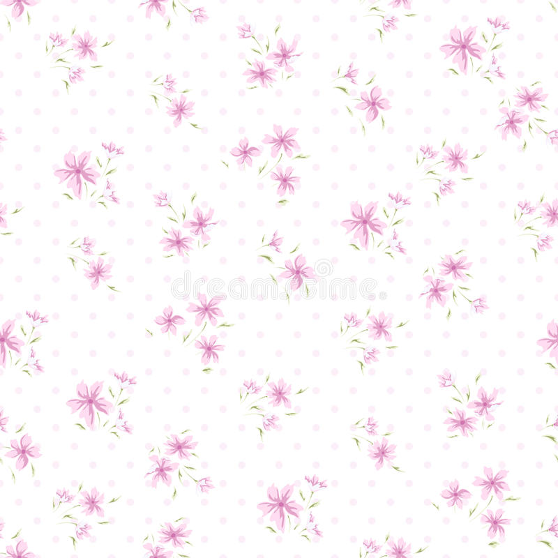 Απλό σχέδιο 4 λουλουδιών απεικόνιση αποθεμάτων