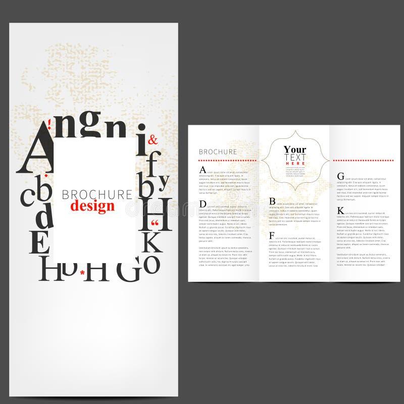 Απλό σχέδιο σχεδιαγράμματος φυλλάδιων διανυσματική απεικόνιση