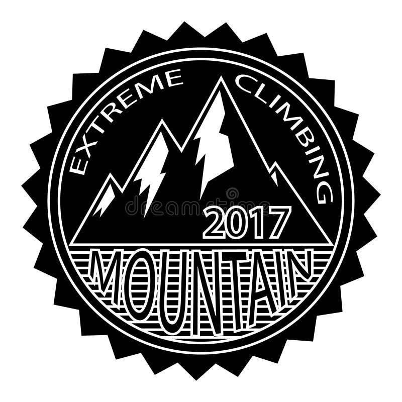 Απλό σύγχρονο πρότυπο σχεδίου διακριτικών βουνών hipster ακραίος στοκ φωτογραφία