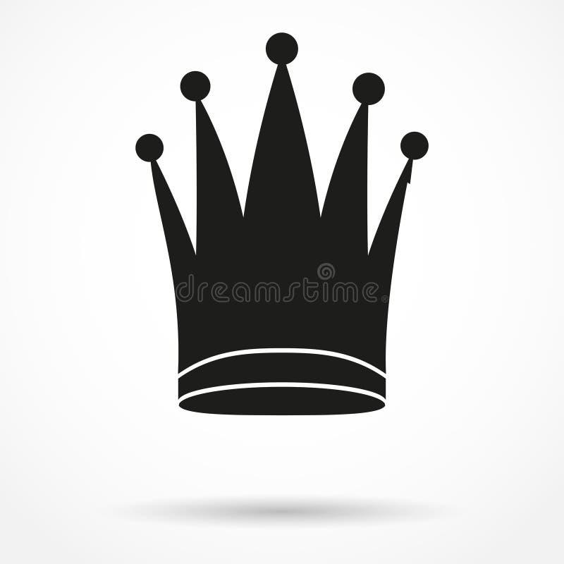 Απλό σύμβολο σκιαγραφιών της κλασικής βασιλικής βασίλισσας απεικόνιση αποθεμάτων