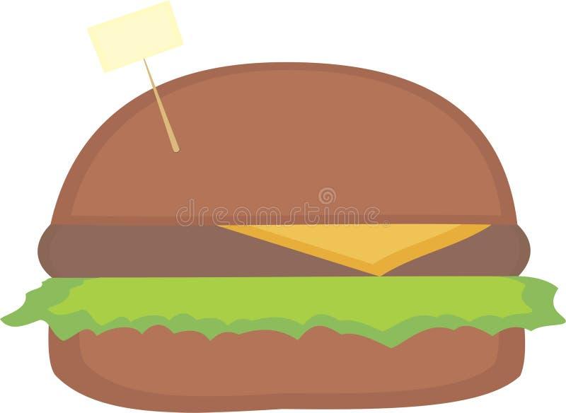Απλό burger με το γράψιμο του πίνακα στοκ φωτογραφία με δικαίωμα ελεύθερης χρήσης
