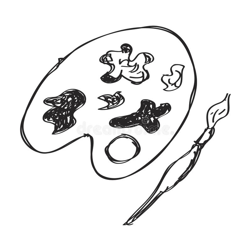 Απλό doodle μιας παλέτας χρωμάτων ελεύθερη απεικόνιση δικαιώματος