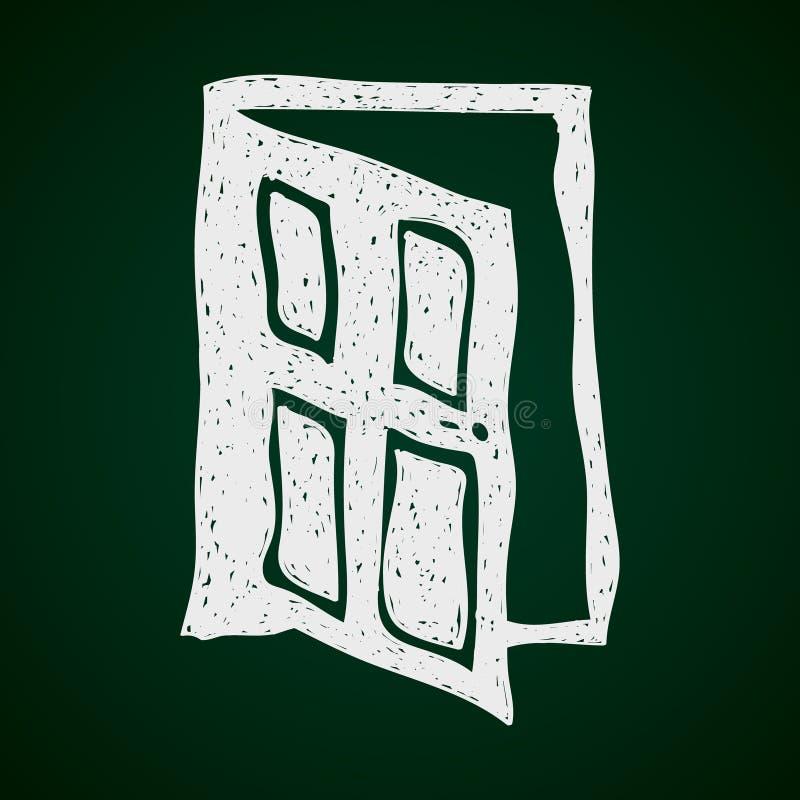 Απλό doodle μιας πόρτας διανυσματική απεικόνιση