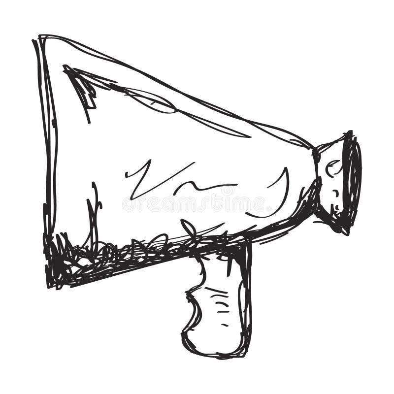 Απλό doodle megaphone απεικόνιση αποθεμάτων