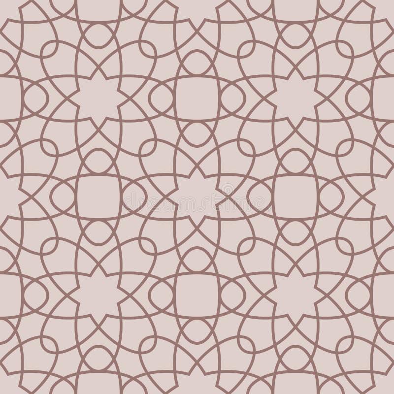Αραβικά άνευ ραφής σχέδια Μπεζ διακοσμήσεις για το κλωστοϋφαντουργικό προϊόν και το ύφασμα διανυσματική απεικόνιση
