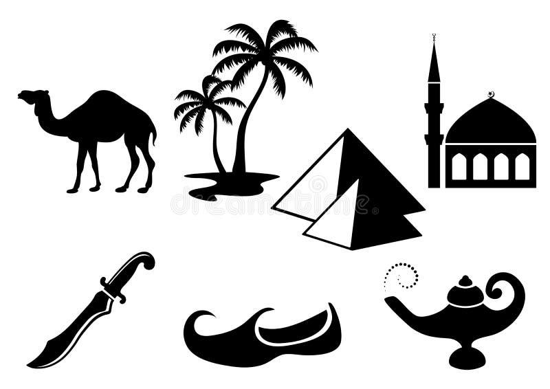 Αραβικά εικονίδια ελεύθερη απεικόνιση δικαιώματος