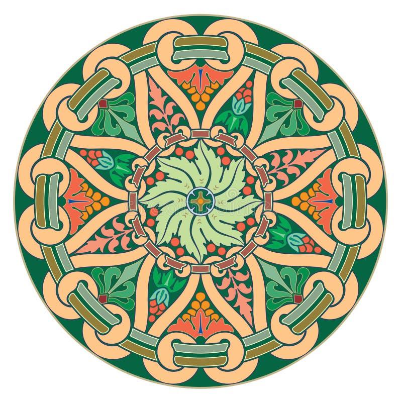 Αραβικά Floral άνευ ραφής σύνορα Παραδοσιακό ισλαμικό σχέδιο Στοιχείο διακοσμήσεων μουσουλμανικών τεμενών - Το διανυσματικό αρχεί διανυσματική απεικόνιση