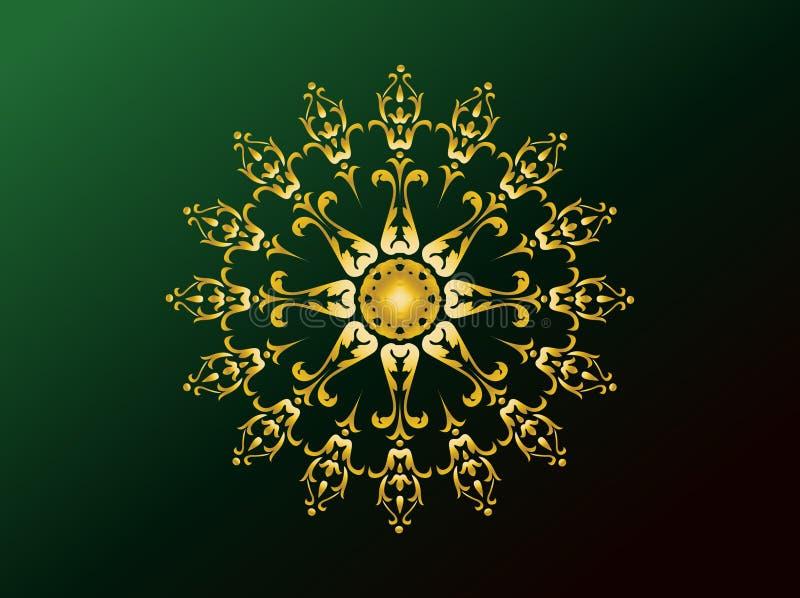 αραβικές διακοσμήσεις διανυσματική απεικόνιση
