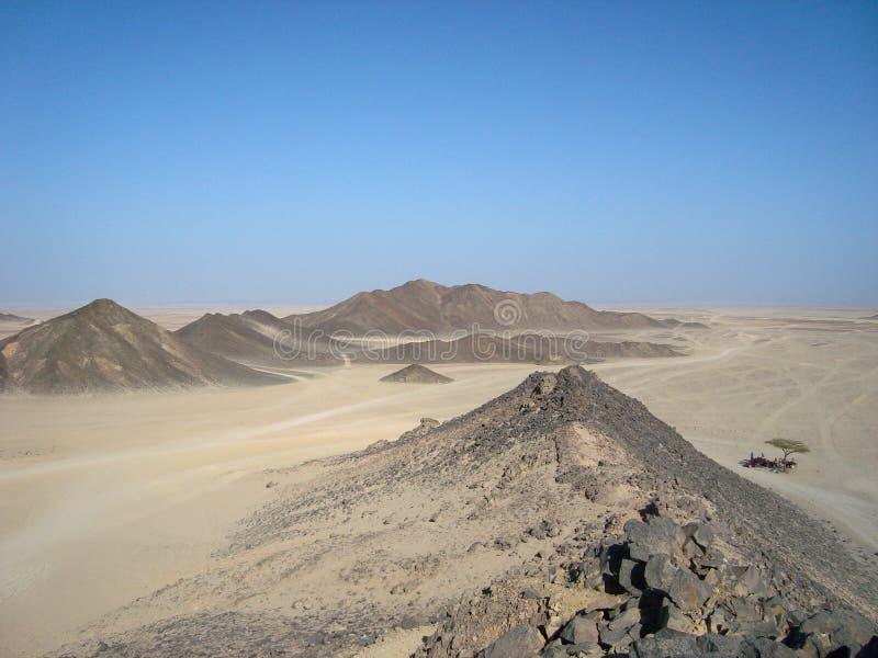 Αραβική έρημος Η άποψη από την κορυφή του βουνού στοκ φωτογραφίες