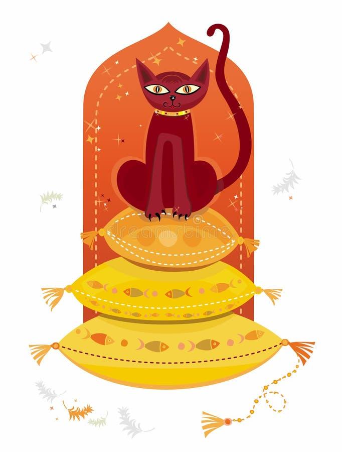 αραβική γάτα απεικόνιση αποθεμάτων