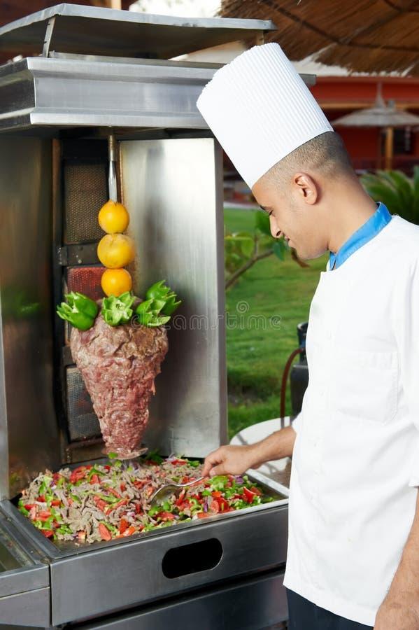 αραβικός αρχιμάγειρας kebab π& στοκ φωτογραφίες με δικαίωμα ελεύθερης χρήσης