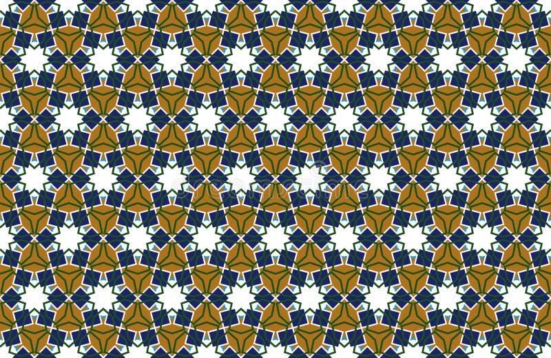Αραβικό άνευ ραφής υπόβαθρο σχεδίων στο ισλαμικό ύφος Γεωμετρικό μουσουλμανικό σκηνικό διακοσμήσεων r ελεύθερη απεικόνιση δικαιώματος