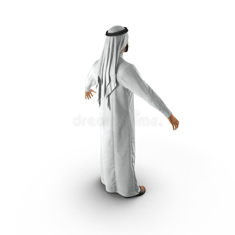 Αραβικό άτομο στο λευκό τρισδιάστατη απεικόνιση απεικόνιση αποθεμάτων