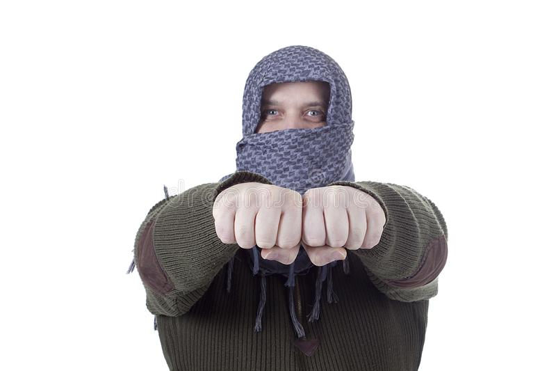Αραβικό άτομο στο kufia στοκ φωτογραφίες