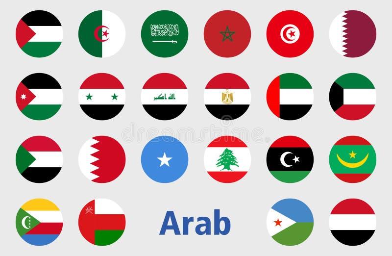 Αραβικό διάνυσμα απεικόνισης σημαιών χωρών ελεύθερη απεικόνιση δικαιώματος