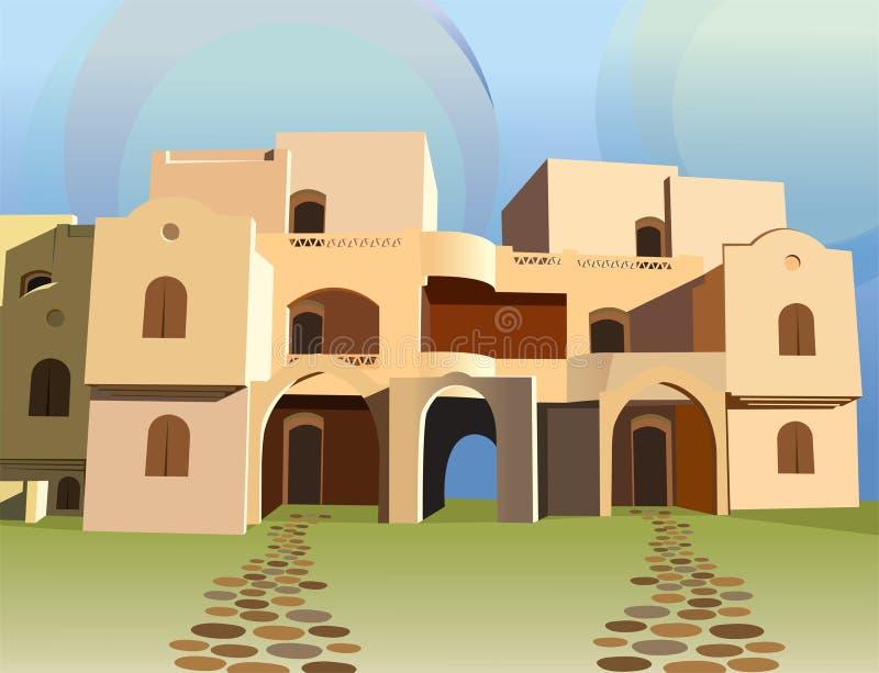 αραβικό διάνυσμα σπιτιών ελεύθερη απεικόνιση δικαιώματος
