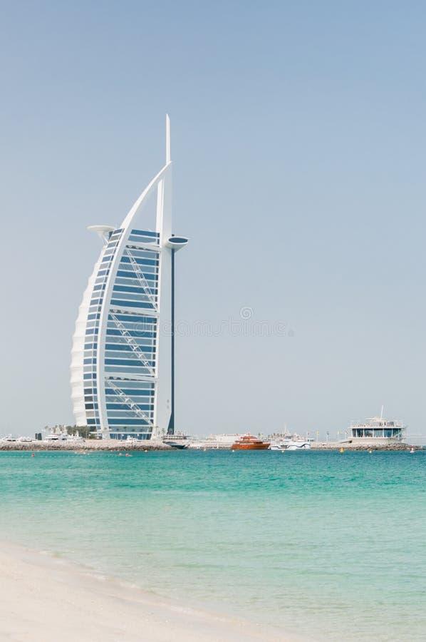 Αραβικό ξενοδοχείο πολυτελείας Al Burj στο Ντουμπάι στοκ εικόνα με δικαίωμα ελεύθερης χρήσης