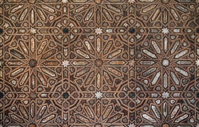 Αραβικό ξύλο σχεδίων στοκ φωτογραφίες