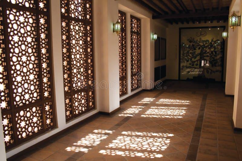 αραβικό παράθυρο mashrebia διαδρ στοκ εικόνα