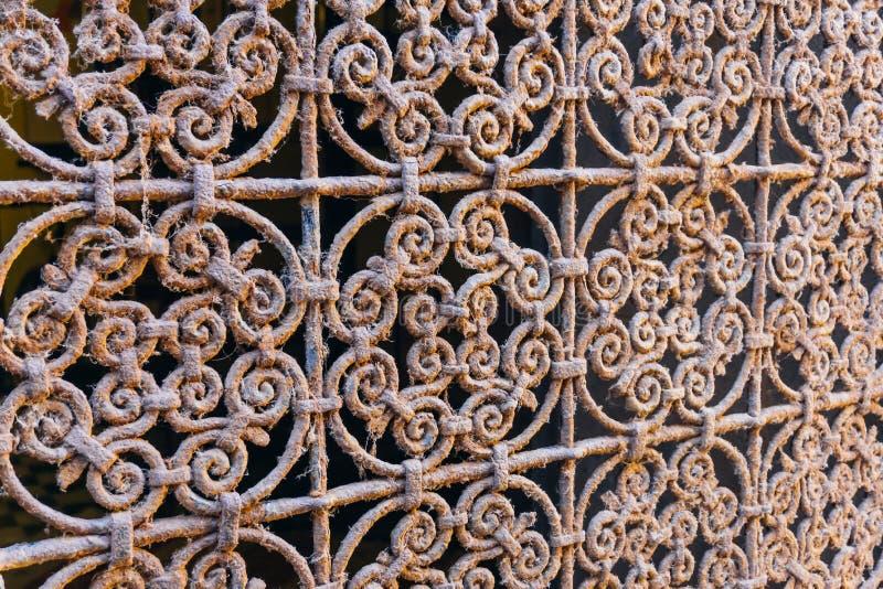 Αραβικό σχέδιο σιδήρου, ασιατική ισλαμική διακόσμηση Μαροκινό κεραμίδι, ή μαροκινό παραδοσιακό μωσαϊκό zellij στοκ φωτογραφίες με δικαίωμα ελεύθερης χρήσης
