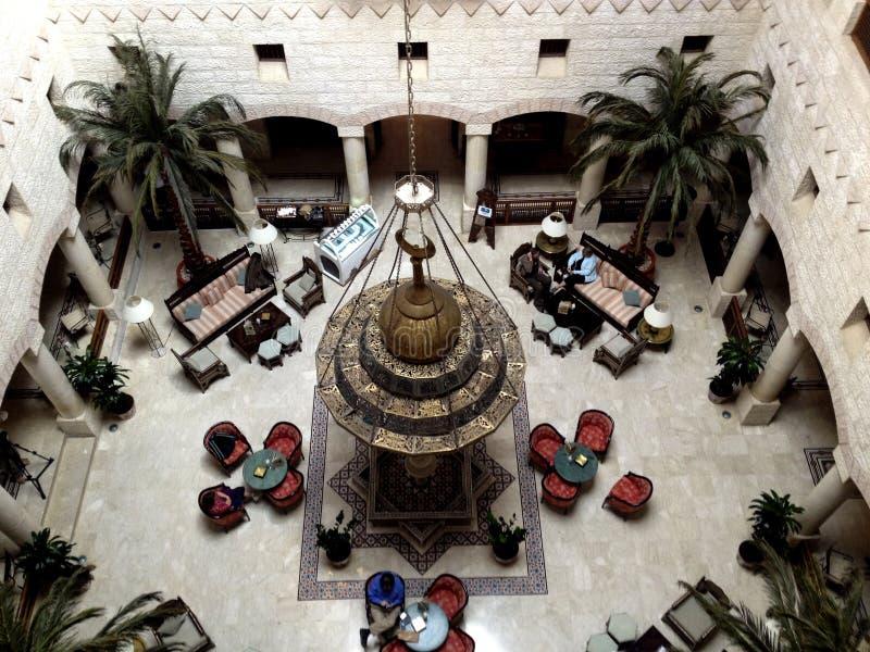 Αραβικό λόμπι αρχιτεκτονικής τοπ άποψης στοκ εικόνες