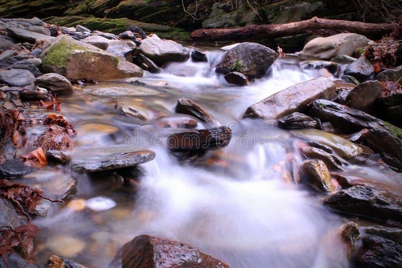 Αργή ταχύτητα Riverscape ή Waterscape παραθυρόφυλλων στοκ φωτογραφίες με δικαίωμα ελεύθερης χρήσης