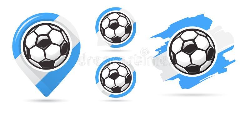 Αργεντινά διανυσματικά εικονίδια ποδοσφαίρου Στόχος ποδοσφαίρου Σύνολο εικονιδίων ποδοσφαίρου Δείκτης χαρτών ποδοσφαίρου απαραίτη ελεύθερη απεικόνιση δικαιώματος