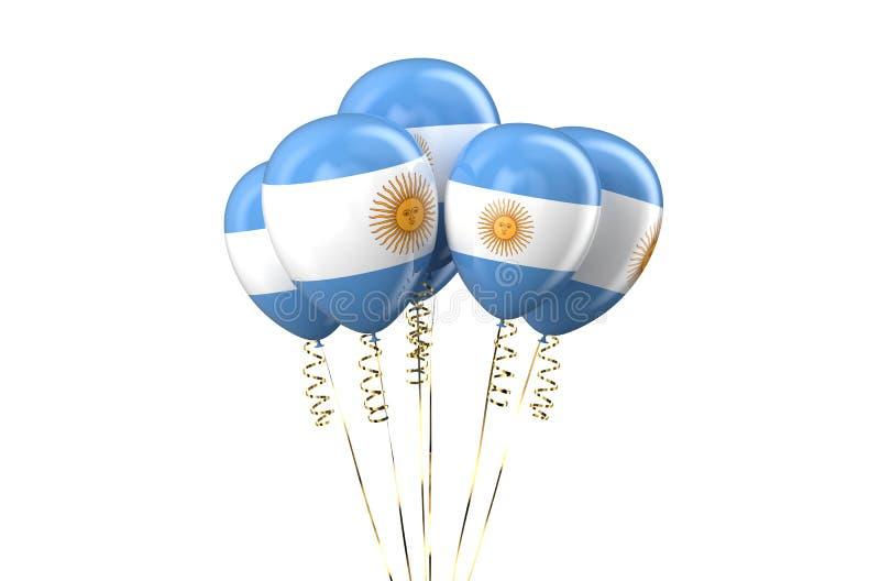 Αργεντινά πατριωτικά μπαλόνια, holyday έννοια ελεύθερη απεικόνιση δικαιώματος