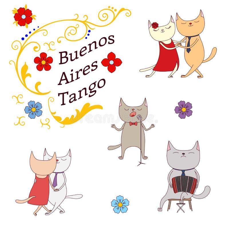Αργεντινά στοιχεία σχεδίου τανγκό απεικόνιση αποθεμάτων