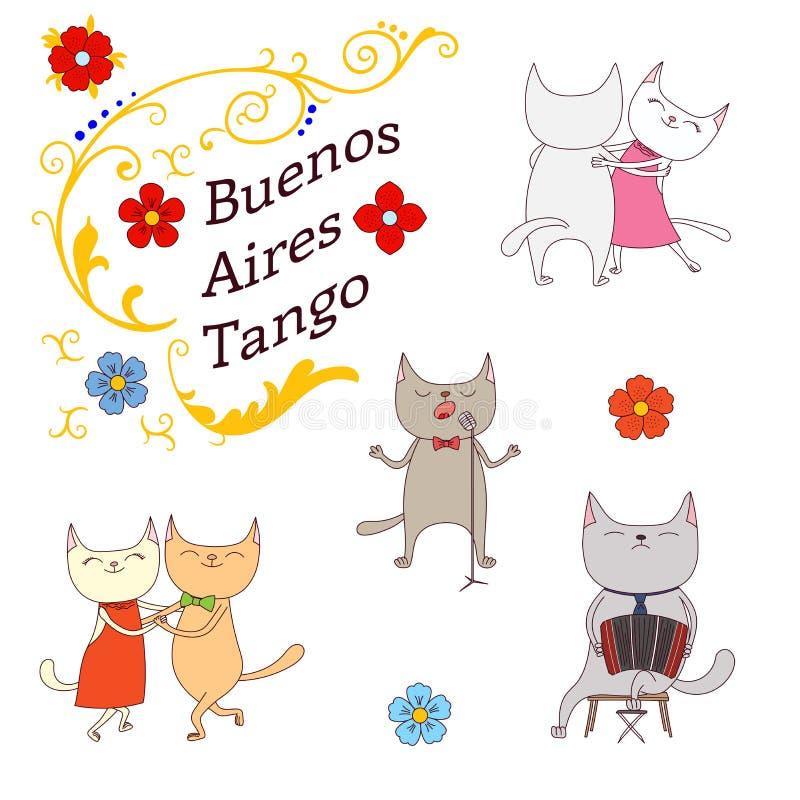 Αργεντινά στοιχεία σχεδίου τανγκό ελεύθερη απεικόνιση δικαιώματος
