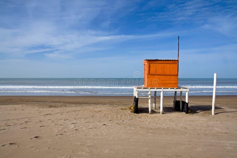 αργεντινή ατλαντική ακτή lifeguard στοκ φωτογραφία με δικαίωμα ελεύθερης χρήσης