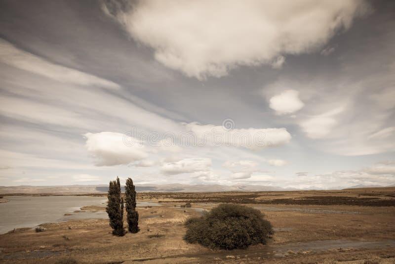 Αργεντινή Παταγωνία μια θυελλώδη ημέρα στοκ φωτογραφία με δικαίωμα ελεύθερης χρήσης