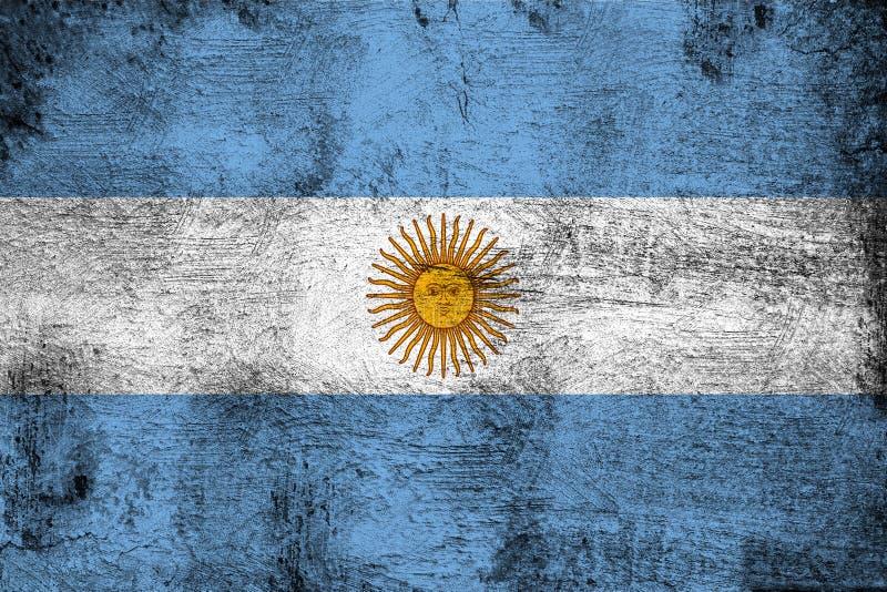 Αργεντινή σκουριασμένη και grunge απεικόνιση σημαιών διανυσματική απεικόνιση