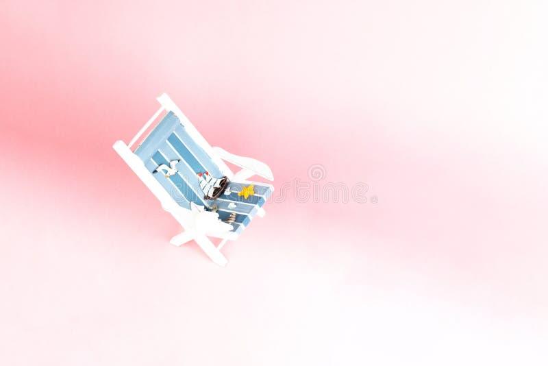 Αργόσχολος ήλιων που απομονώνεται στο ρόδινο υπόβαθρο Τροπικό υπόβαθρο διακοπών Αργόσχολος ήλιων στο αμμώδες νησί, διάστημα αντιγ στοκ εικόνες