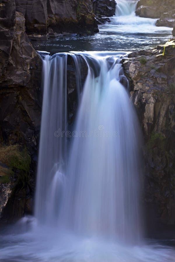 Αργό ανατρέποντας νερό στις άσπρες πτώσεις ποταμών στοκ εικόνες