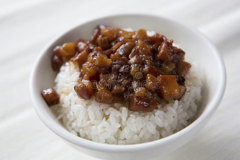 αργό ρύζι χοιρινού κρέατος στοκ εικόνα με δικαίωμα ελεύθερης χρήσης