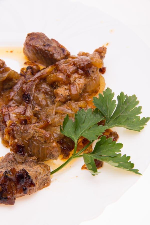 Αργό ψήσιμο του κρέατος με στοκ φωτογραφία με δικαίωμα ελεύθερης χρήσης