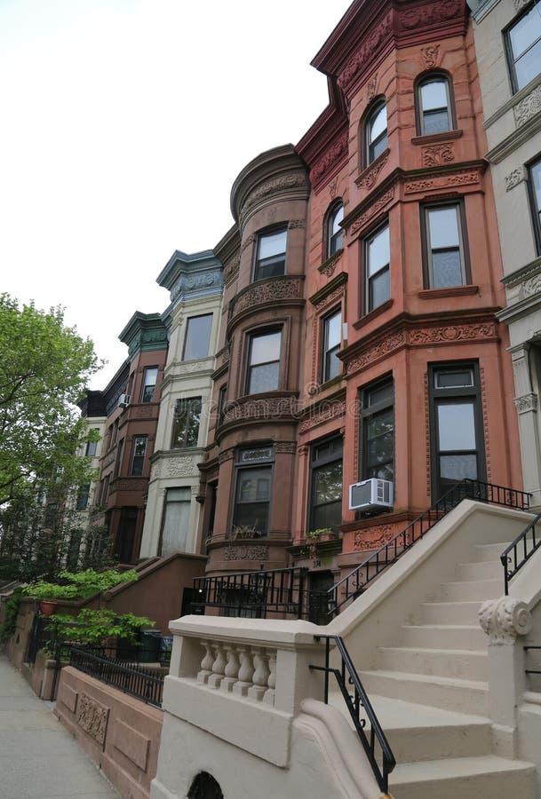 Αρενησθες δε θολορ οσθuρο πόλεων της Νέας Υόρκης στην ιστορική γειτονιά υψών προοπτικής στοκ φωτογραφίες
