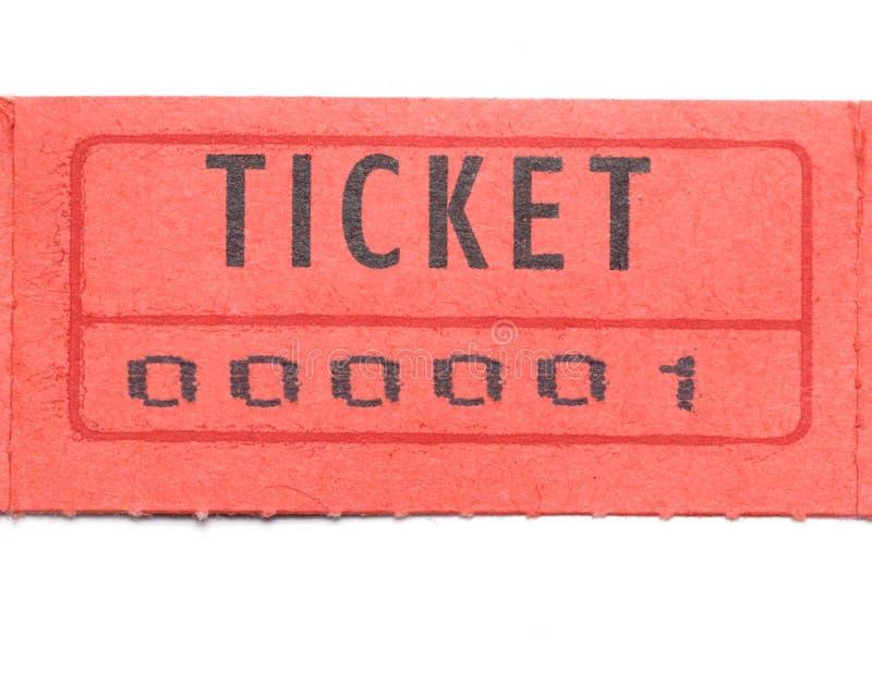 αριθμημένος ένα κόκκινο εισιτήριο στοκ εικόνες