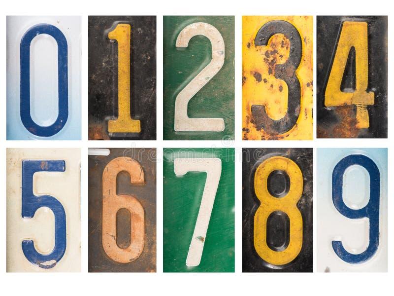 Αριθμητικοί εκλεκτής ποιότητας σκουριασμένοι αριθμοί στοκ φωτογραφία