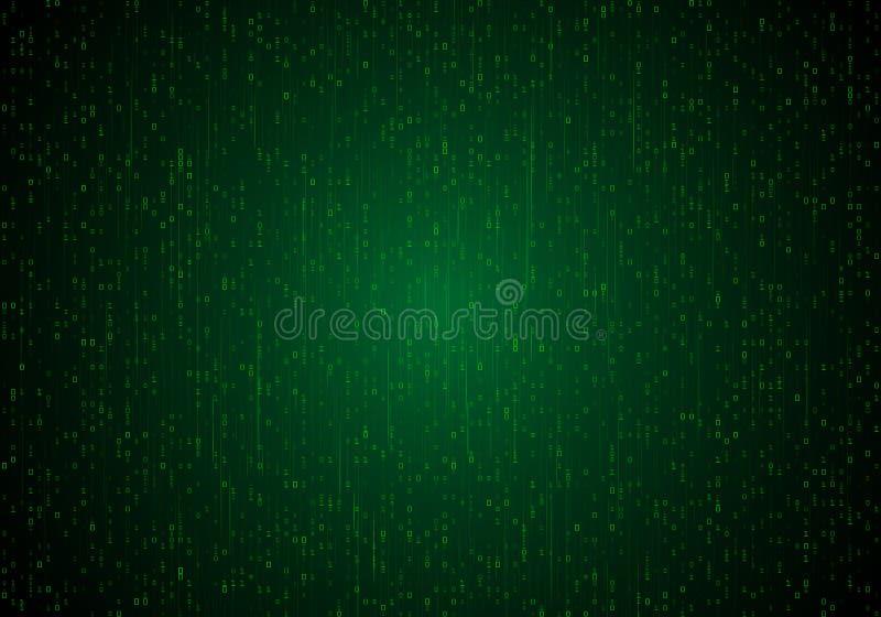 Αριθμητικός κώδικας με τα ψηφία διανυσματική απεικόνιση
