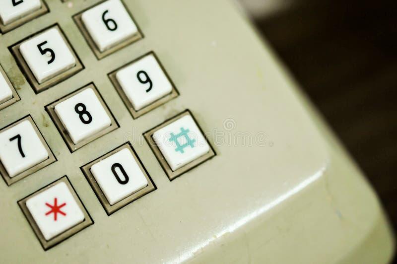 Αριθμητικό μαξιλάρι ενός παλαιού τηλεφωνικού σπιτιού στοκ φωτογραφίες με δικαίωμα ελεύθερης χρήσης