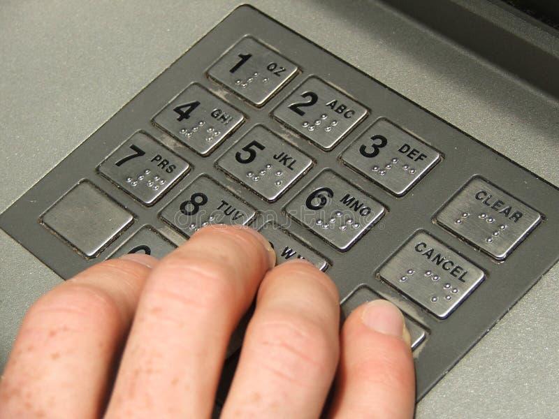 αριθμητικό πληκτρολόγιο του ATM στοκ φωτογραφία με δικαίωμα ελεύθερης χρήσης