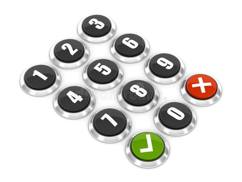 Αριθμητικό πληκτρολόγιο απεικόνιση αποθεμάτων
